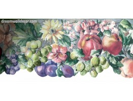 6 in x 15 ft Prepasted Wallpaper Borders - Floral Wall Paper Border VR74569