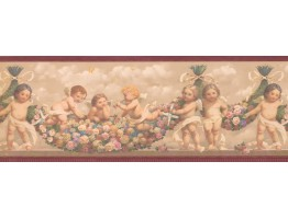 Three Baby Angels Wallpaper Border
