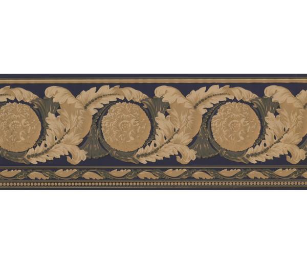 Vintage Wallpaper Borders: Black Leafy Floral Design Wallpaper Border