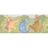 Clearance: Kids Funny Dino Wallpaper Border