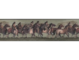 Prepasted Wallpaper Borders - Horses Wall Paper Border WD4164