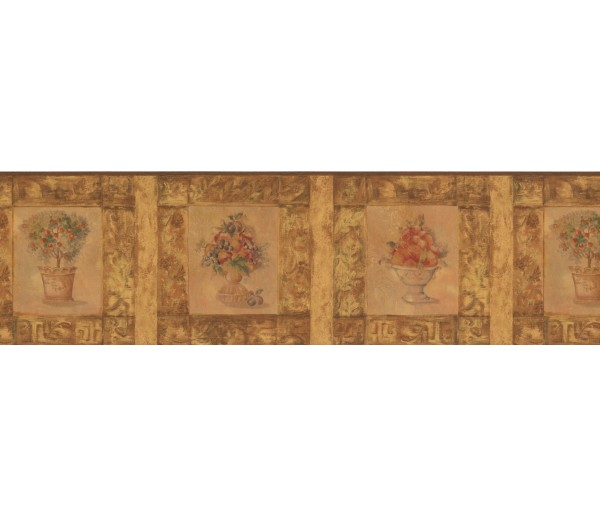 Garden Wallpaper Borders: Framed Apple Tree Wallpaper Border