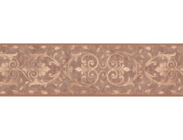 Prepasted Wallpaper Borders - Dark Gold Moulding Design Wall Paper Border