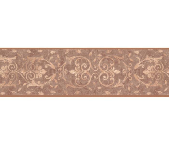 Contemporary Wall Borders: Dark Gold Moulding Design Wallpaper Border