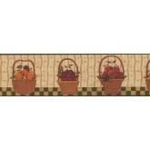 Clearance: Berries Fruit Basket Wallpaper Border