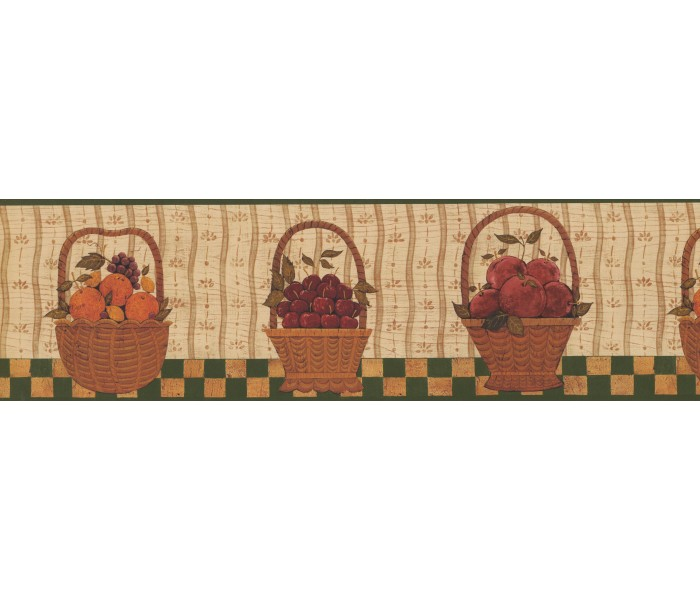 Clearance: Berries Fruit Basket Wallpaper Border