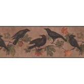 Birds  Wallpaper Borders: Light Brown Bird Wallpaper Border