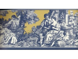 Prepasted Wallpaper Borders - Lovers Garden Wall Paper Border
