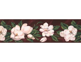 7 in x 15 ft Prepasted Wallpaper Borders - Floral Wall Paper Border WT1017
