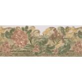 Garden Wallpaper Borders: Cherries on Brown Frame Wallpaper Border