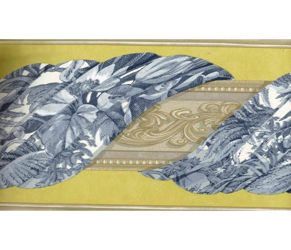Vintage Borders Roped Floral Design Wallpaper Border York Wallcoverings