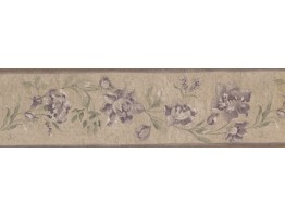 Shaded Flower Floral Wallpaper Border