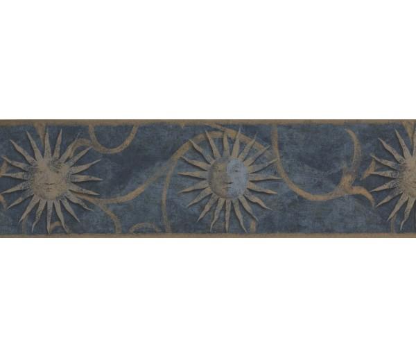 Sun Moon Stars Borders Dark Blue Sun Sign Wallpaper Border York Wallcoverings