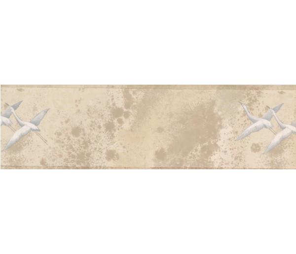 Birds  Wallpaper Borders: White Cream Birds Wallpaper Border