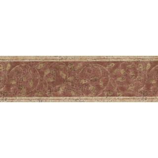 7 in x 15 ft Prepasted Wallpaper Borders - NORWALL ZEN LEAVES Wall Paper Border