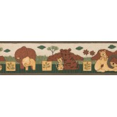 Clearance: Brown Safari Animals Wallpaper Border