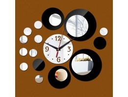 3D Acrylic Wall Clock With Mirror