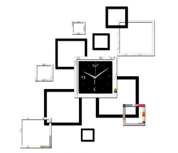 Wall Clocks DIY 3D Acrylic Wall Clock With Mirror