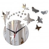 Wall Clocks DIY 3D Acrylic Wall Clock With Butterfly and Star Sticker
