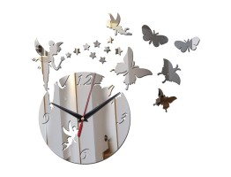 DIY 3D Acrylic Wall Clock With Butterfly and Star Sticker