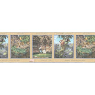 13 in x 15 ft Prepasted Wallpaper Borders - Kids Wall Paper Border b103351