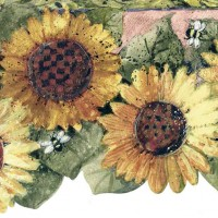 Sunflower Wallpaper Borders